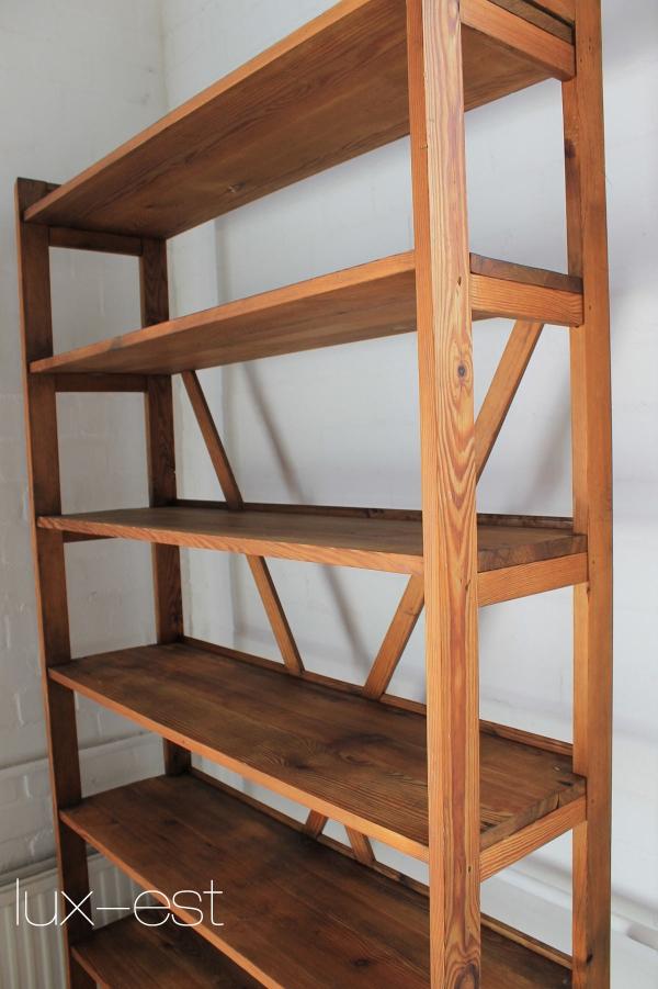 regal berlin industrie design vintage laden regal magazin holz antik loft ebay. Black Bedroom Furniture Sets. Home Design Ideas