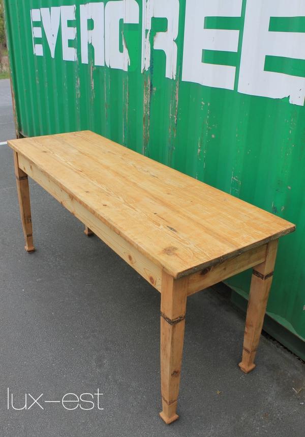 Hamburg industrie fabrik design holz tisch werkstatt for Tisch vollholz design