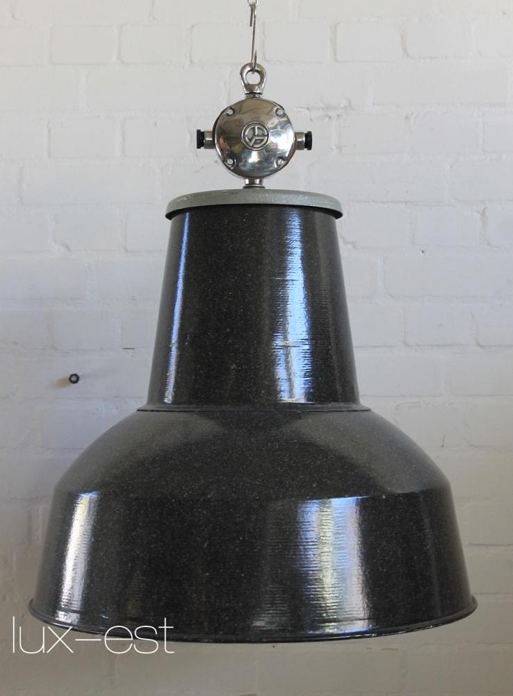 Ostrava Fabrikdesign Industrielampe Grau Weiss