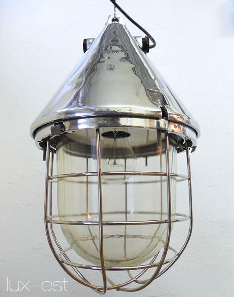 Lampy sufitowe i wiszące 1 of 8 THALE ICE S Industrie Bunker Lampe Fabrik Industrial Light Fixture Lamp Meble i wyposażenie wnętrz