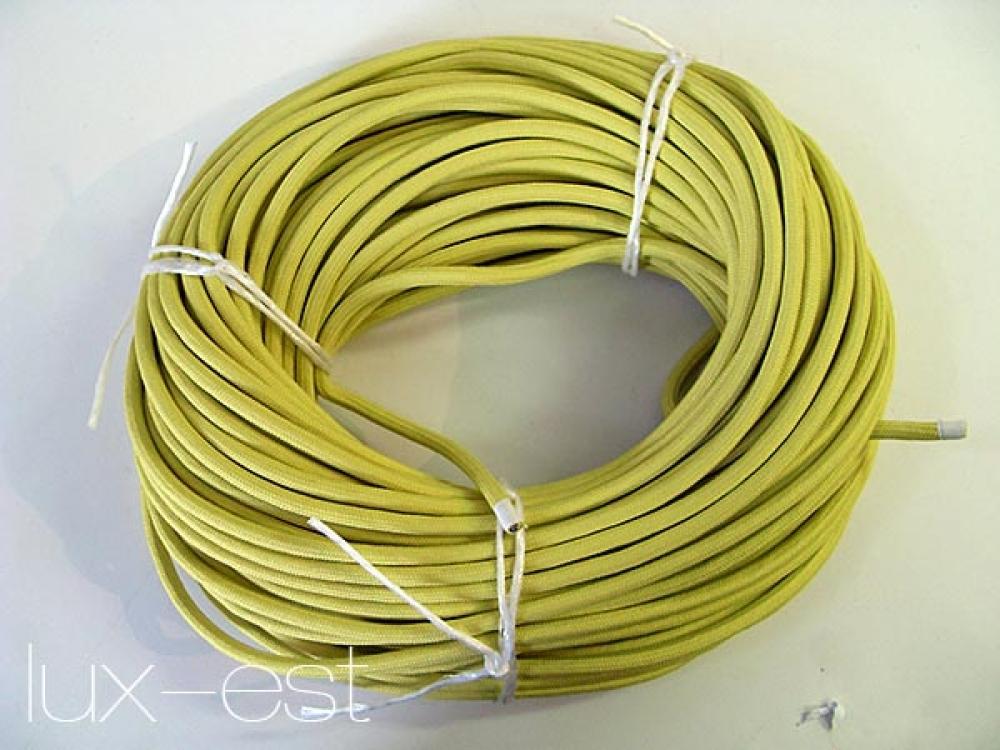 1m textilkabel gelb stoff kabel kaufen. Black Bedroom Furniture Sets. Home Design Ideas