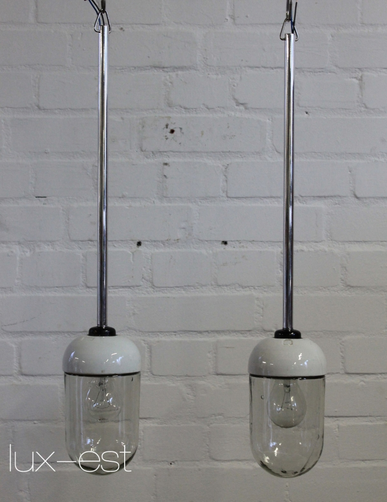 Vista m blank pendel industrie bauhaus lampe for Lampen replikate