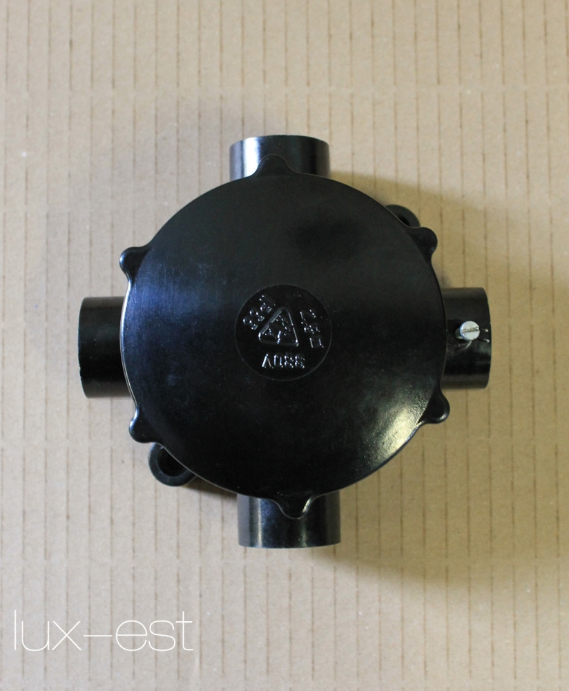 Oryginalne, wykonane do 1960 1 of 30 AKI 3 NEU Verteiler Abzweigdose Lagerware Bakelit Dreiarmig Industrie